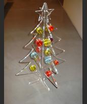 Abete natalizio in plexiglas trasp.