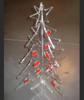 Abete natalizio con palline rosse